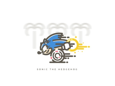 Sonic The Hedgehog nostalgic games speed sega illustration illustrator vector ring hedgehog sonic