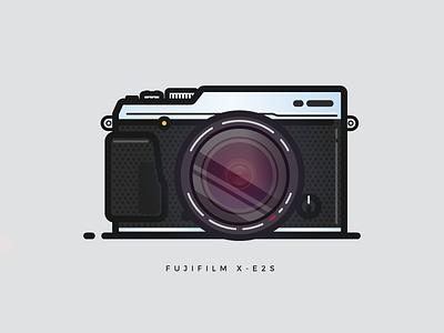 Fujifilm X-E2S design icon fujifilm illustration illustrator vector camera