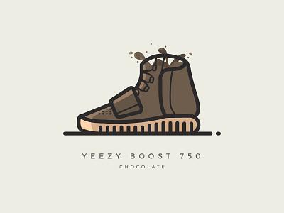 Yeezy Boost 750 'Chocolate' illustrator illustration vector sneakers shoes kanye yeezy boost 750 yeezy