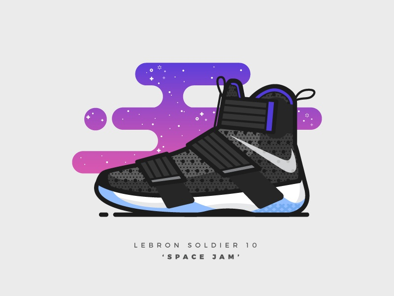 online retailer 98cd8 7ded9 LeBron Soldier 10  Space Jam  illustration illustrator vector nike shoes  basketball sneakers lebron lebron