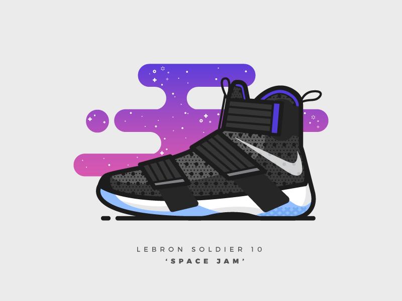 online retailer 3e046 a5683 LeBron Soldier 10  Space Jam  illustration illustrator vector nike shoes  basketball sneakers lebron lebron