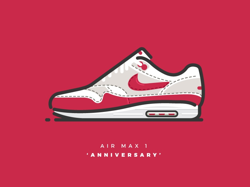 Air Max 1 Anniversary By Pixelwolfie On Dribbble