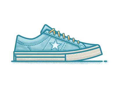 Converse x Tyler, The Creator tyler shoes sneakers vector grain illustrator illustration blue line converse