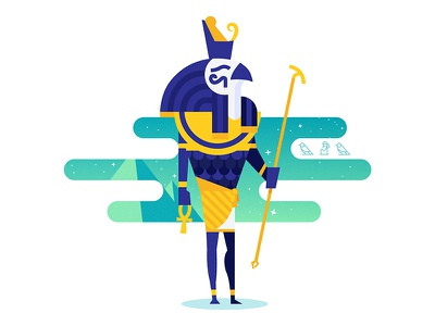 Horus horus eye horus gods egypt pyramid gradient vector illustrator illustration space