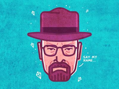 Heisenberg portrait character bryan cranston walter white vector avatar breaking bad heisenberg
