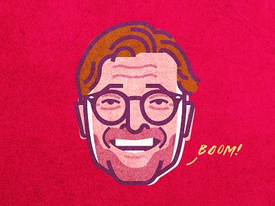 Jurgen Klopp art people illustration portrait vector sports football soccer klopp liverpool