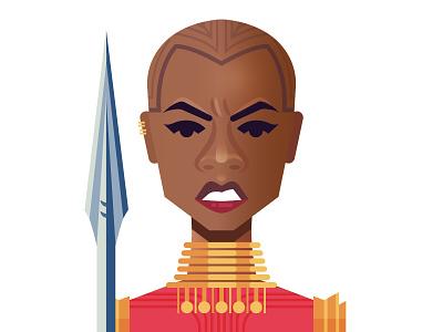 Okoye women black panther okoye marvel superhero illustrator illustration panther vector gradient africa