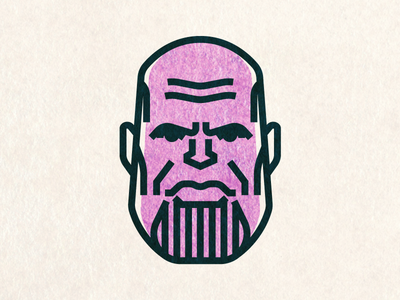 Thanos the Mad Titan movie face person minimal illustration portrait vector ironman thor avengers thanos