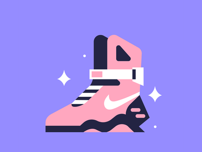 Airmag icons nike shoes sneakers design vector minimal illustration back to the future airmag