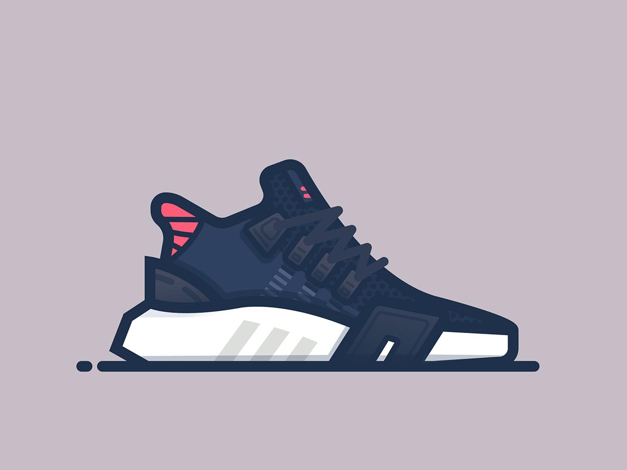 Adidas EQT Basketball fashion minimal vector adidas shoes sneakers illustrator illustration