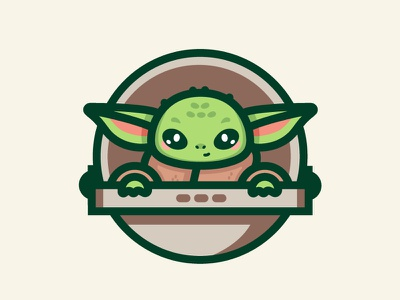 Baby Yoda vector kawaii green character design disney mandalorian illustration starwars yoda baby yoda