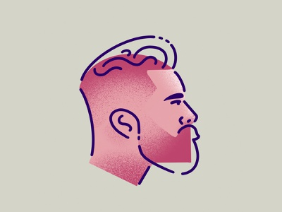 Beardo drawing sketch procreate minimal illustrator illustration man people character design beards beard