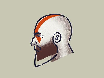 Kratos drawing minimal beards beard sketch procreate people illustration gamer norse god of war ps4 kratos