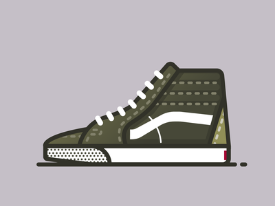 Vans Sk8-Hi Skate fashion vector minimal illustrator sneakerhead illustration shoes sneakers sneaker vans
