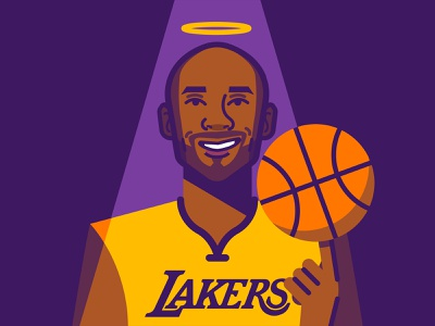 Kobe 🙏🏼 lakers people minimal vector legend bball basketball nba kobe bryant kobe