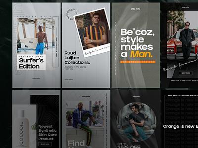 Hexagon - E-commerce Stories brand identity branding instagram stories social media design social media