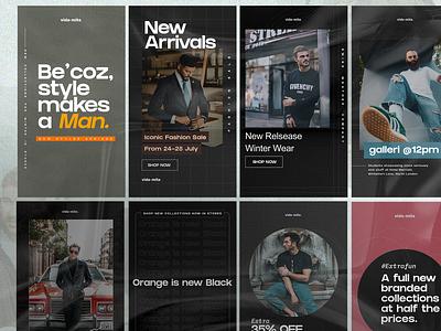 Hexagon - E-commerce Posts branding concept brand identity branding design social media design social media