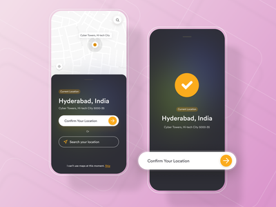 Artacy App - Location Screen gradients uidesign location pin location tracker app ios app design app design artacy
