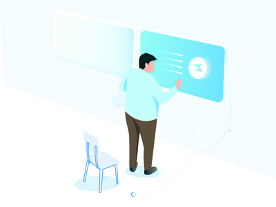 #2 Future People Illustration people support illustrations tech gradients illustration isometric