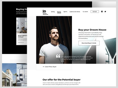 Real Estate Project Proposal black and white landing page real estate landing page website