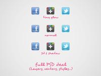 Social Gems PSD