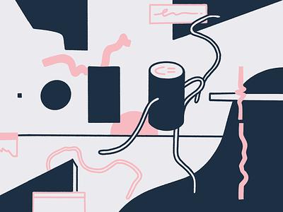 Metamorphosis procreate brutalism smile graphic visual design abstract editorial illustration
