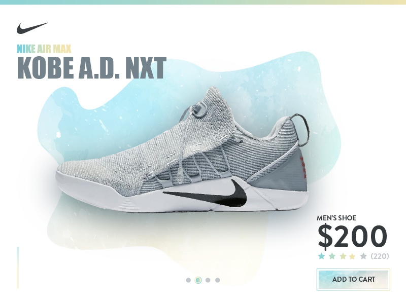 Nike Product Page ux white web page product nike flat minimal ui