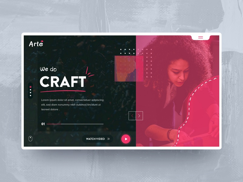 Arte - UI Exploration redesign abstract background abstract branding agency craft welcome app vector on-boarding branding logo typography ui design dashboard illustration