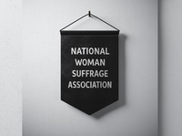 National Woman Suffrage Association Pennant