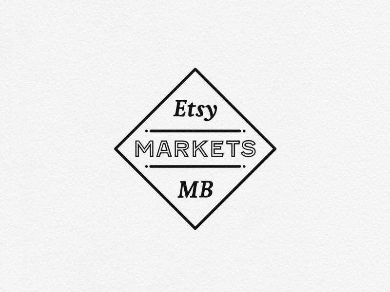 Etsy Markets MB manitoba local craft market etsy design branding brand typography type logo