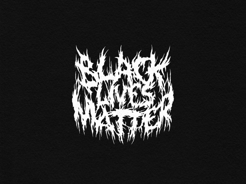 Black Lives Matter niche black lives matter black metal lettering logo design typography type