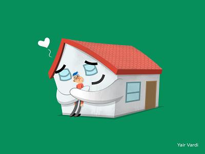 STAY HOME! quarantie time quarantie funny illustration character yarko yair vardi