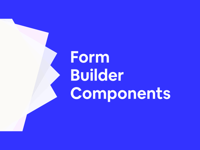 Form Builder Components switch radio button checkbox error message error select textarea input uikit component form autolayout