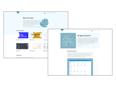 DS PA cards blue plants 2020 vector ui beautiful ui minimal projects dashboad personal account atomic component design system portfolio
