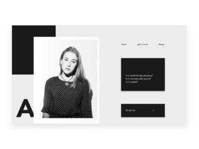 Portfolio Main page
