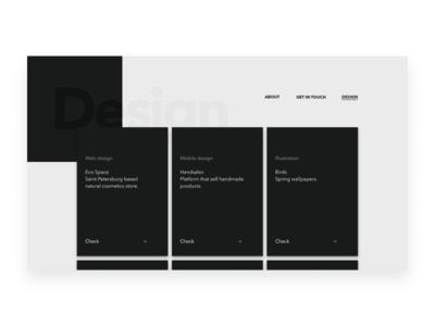 Portfolio Design page