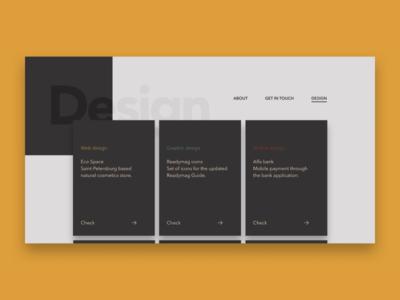 Portfolio 'Design' page