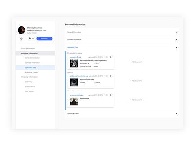 Admin Dashboard identification passport digital blockchain crypto contact general upload information personal customer kyc dashboard admin dashboard