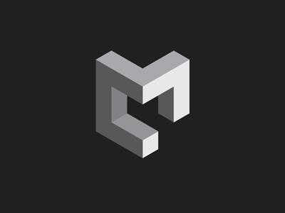 Christopher Murphy - Brand Logo monochromatic geometric graphic design logo