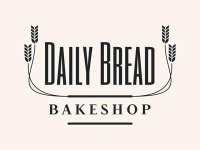 Daily Bread Logo wheat cream bakery graphic design logo