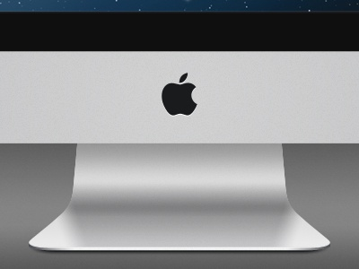 iMac 27in - WIP teaser apple imac mac 27inch aluminum lion os x psd photoshop desktop icon template vector product mockup layered scalable