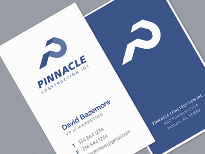 Pci Business Cards logo brand identity minimal clean construction logotype wordmark blue strong founded structure modern business cards design typography type
