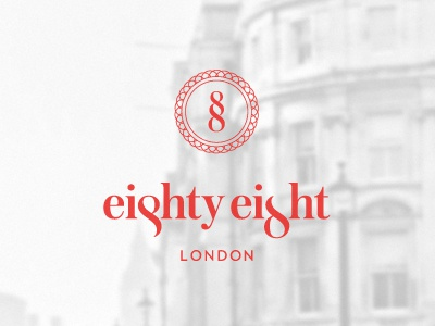 Eighty eight logo whitered