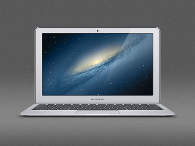 """Macbook Air 11"""" psd Teaser apple macbook air mac 11inch aluminum lion os x psd photoshop laptop icon template vector product mockup layered scalable"""