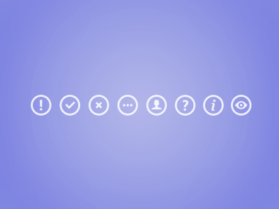 Icon Set ui icons interface design round circle simple clean user interface