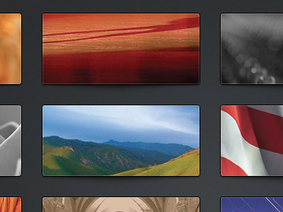 EOA - Category Selection navigation ui user interface shadow rounded grid layout button thumbnail