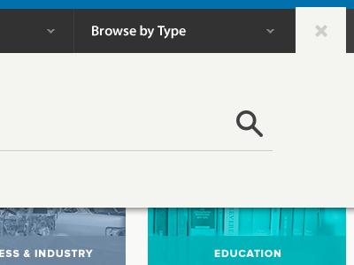 Quick Search  ui user interface interface light minimal nav dropdown menu icons icon search tab