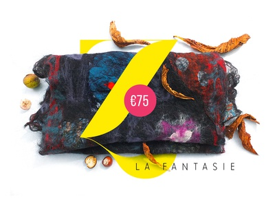 La Fantasie store shop handcraft handmade cloth flowers scarf feutrage nuno wool felting