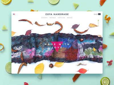zoyahandmade.com scarf home page store cloth handmade