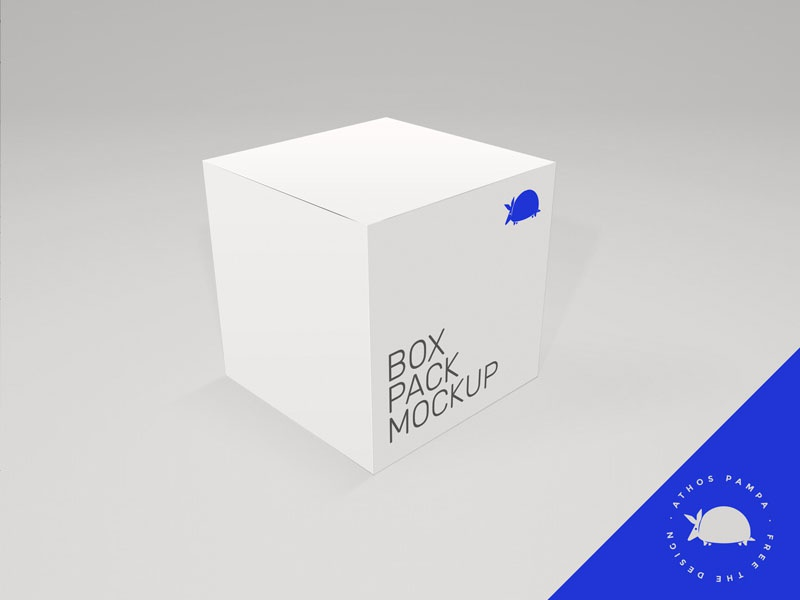 FREE Box Mockup presentation design mockup box free